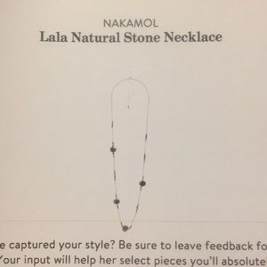 Nakamol Lala Natural Stone Necklace - NEVER WORN!